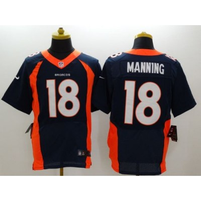 Nike Broncos 18 Peyton Manning Navy Blue Alternate Men Stitched NFL New Elite Jersey