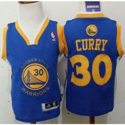 NBA Warriors 30 Stephen Curry Blue Toddler Jersey