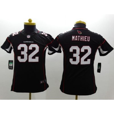 Nike Cardinals 32 Tyrann Mathieu Black Alternate Youth Stitched NFL Limited Jersey