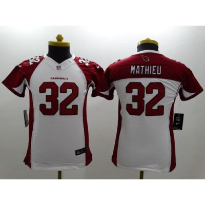 Nike Cardinals 32 Tyrann Mathieu White Youth Stitched NFL Limited Jersey