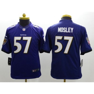 Nike Ravens 57 C.J. Mosley Purple Team Color Youth Stitched NFL New Limited Jersey