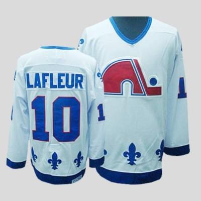 NHL Nordiques 10 Guy Lafleur CCM Throwback white Men Jersey