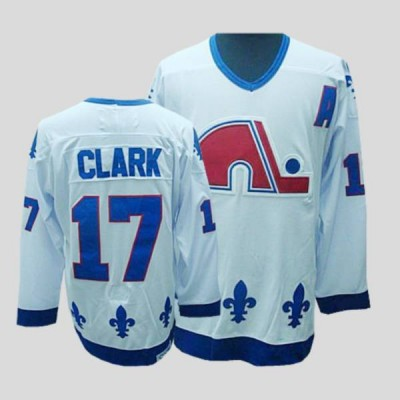 NHL Nordiques 17 Wendel Clark CCM Throwback white Men Jersey