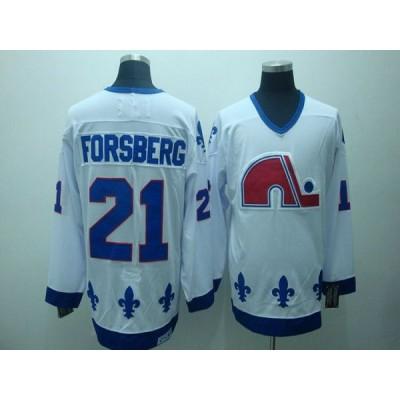 NHL Nordiques 21 Peter Forsberg CCM Throwback white Men Jersey