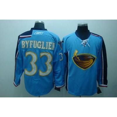 NHL Thrashers 33 Dustin Byfuglien Blue Men Jersey