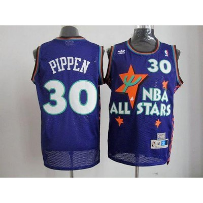 NBA Bulls 30 Scottie Pippen Purple 1995 All Star Men Jersey
