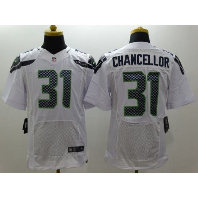 Nike Seahawks 31 Kam Chancellor White Men Stitched NFL Elite Jersey