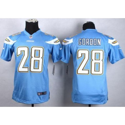 2015 Draft Nike Chargers 28 Melvin Gordon Electric Blue Alternate Youth Stitched NFL New Elite Jersey