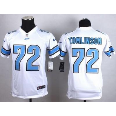 2015 Draft Nike Lions 72 Laken Tomlinson White Youth Stitched NFL Elite Jersey