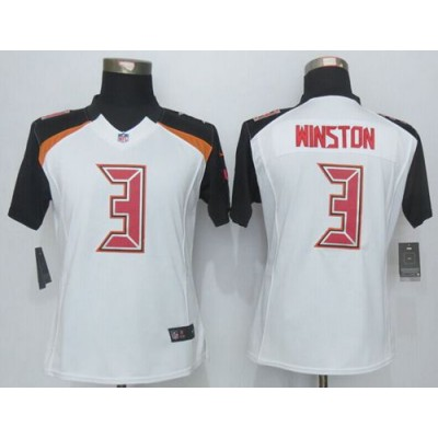 2015 Draft Nike Buccaneers 3 Jameis Winston White Women Stitched NFL New Limited Jersey