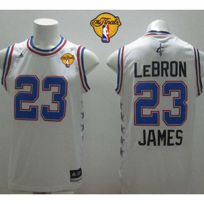 NBA Cavaliers 23 LeBron James White 2015 All Star The Finals Men Jersey