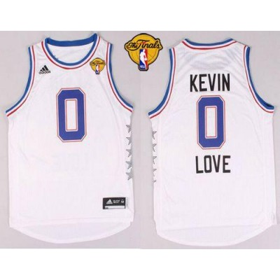 NBA Cavaliers 0 Kevin Love White 2015 All Star The Finals Men Jersey