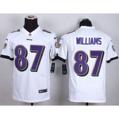 2015 Draft Nike Ravens 87 Maxx Williams White Youth Stitched NFL New Elite Jersey
