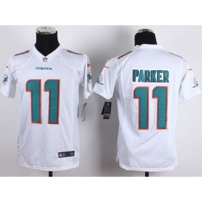 2015 Draft Nike Dolphins 11 DeVante Parker White Youth Stitched NFL New Elite Jersey