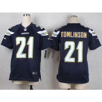 Nike Chargers 21 LaDainian Tomlinson Navy Blue Team Color Youth Stitched NFL New Elite Jersey
