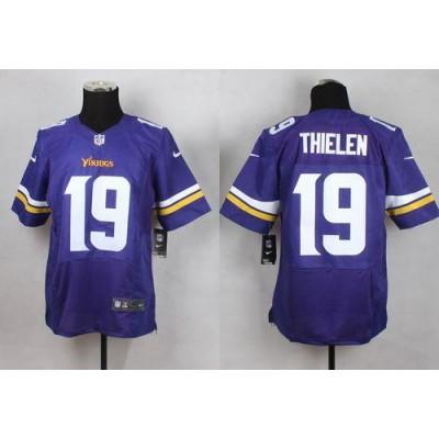 Nike Vikings 19 Adam Thielen Purple Team Color Men Stitched NFL Elite Jersey