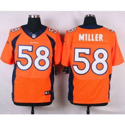 Nike NFL Broncos 58 Von Miller Orange New Elite Men Jersey