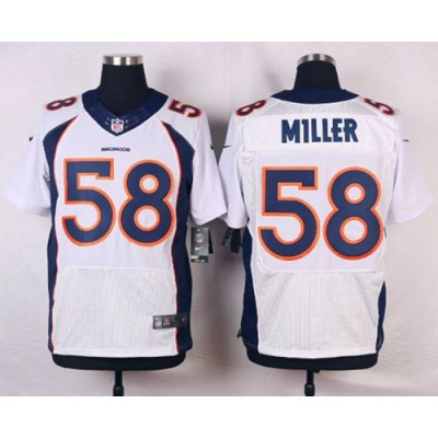 Nike Broncos 58 Von Miller White Men's Stitched NFL New Elite Jersey