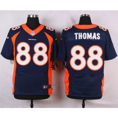 Nike Broncos 88 Demaryius Thomas Navy Blue Alternate Men's Stitched NFL New Elite Jersey