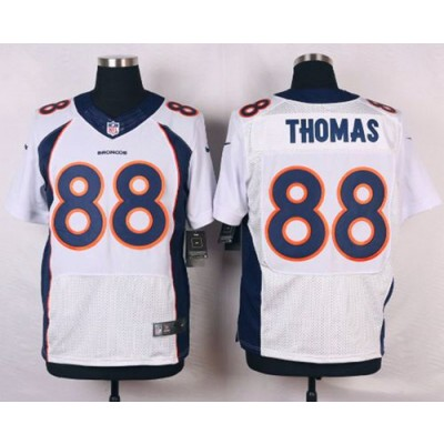 Nike Broncos 88 Demaryius Thomas White Men's Stitched NFL New Elite Jersey
