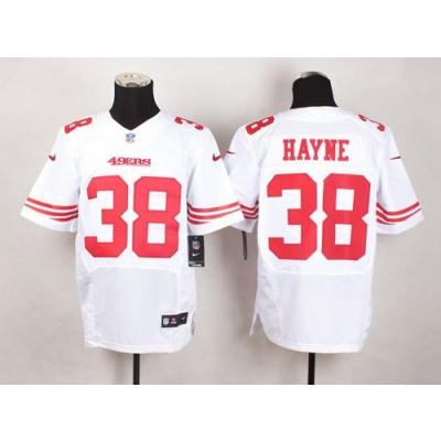 Nike 49ers 38 Jarryd Hayne White Men Stitched NFL Elite Jersey