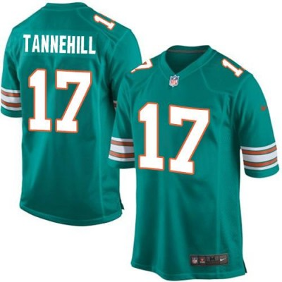 Nike Dolphins 17 Ryan Tannehill Aqua Green Alternate Youth Stitched NFL Elite Jersey 2015 Version