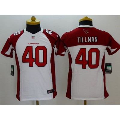 Nike Cardinals 40 Pat Tillman White Youth Stitched NFL Limited Jersey