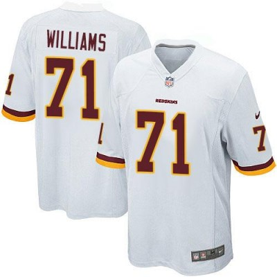 Nike Redskins 71 Trent Williams White Youth Stitched NFL Elite Jersey