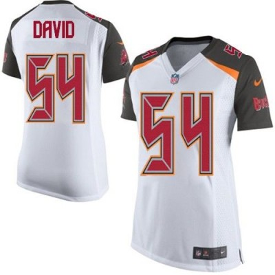 Nike Buccaneers 54 Lavonte David White Women Stitched NFL New Elite Jersey