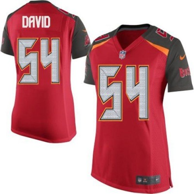 Nike Buccaneers 54 Lavonte David Red Team Color Women Stitched NFL New Elite Jersey