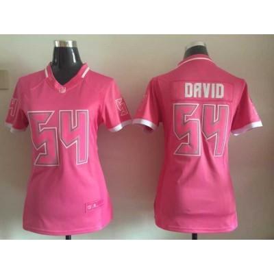 Tampa Bay Buccaneers 54 Lavonte David Pink Women Jersey