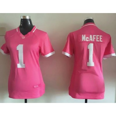 Nike Colts 1 Pat McAfee Pink Women Stitched NFL Elite Bubble Gum Jersey