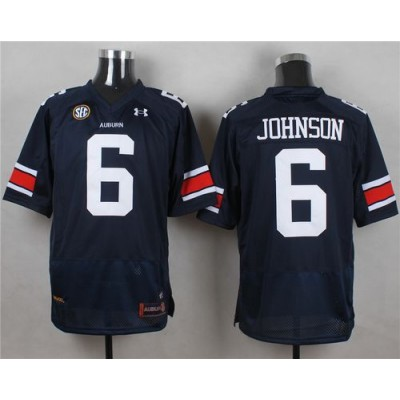 NCAA Auburn Tigers 6 Jeremy Johnson Blue Men Jersey With SEC Patch
