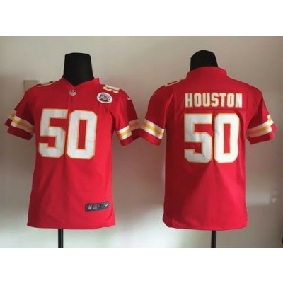 Nike Chiefs 50 Justin Houston Red Team Color Youth Stitched NFL Elite Jersey With AFL-LH Patch