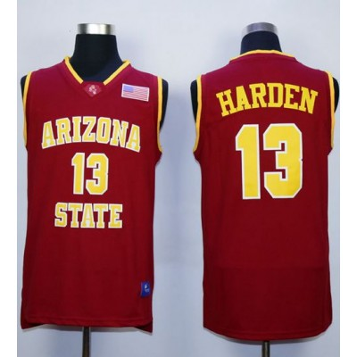 NCAA Arizona State Sun Devils 13 James Harden Red Basketball Men Jersey