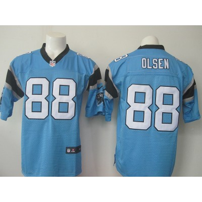 NFL Nike Panthers 88 Greg Olsen Blue Elite Jersey