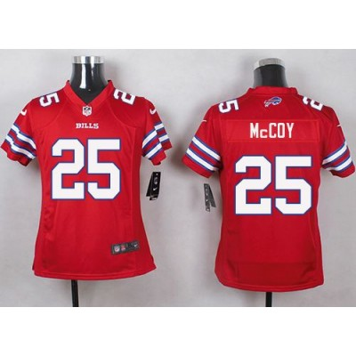 Nike Bills 25 LeSean McCoy Red Youth Stitched NFL Limited Color Rush Jersey