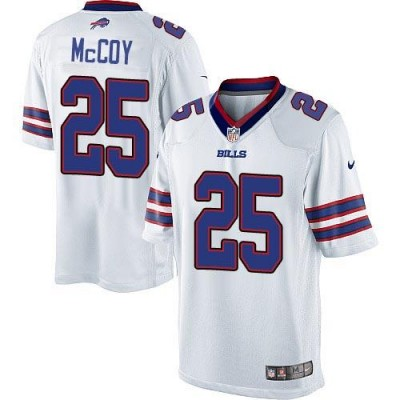 Nike Bills 25 LeSean McCoy White Youth Stitched NFL Limited Jersey