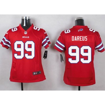Nike Bills 99 Marcell Dareus Red Youth Stitched NFL Limited Color Rush Jersey