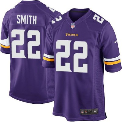 Nike Vikings 22 Harrison Smith Purple Team Color Youth Stitched NFL Elite Jersey