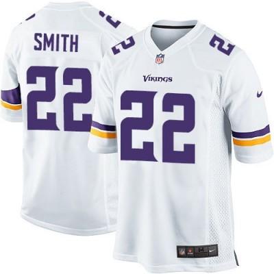 Nike Vikings 22 Harrison Smith White Youth Stitched NFL Elite Jersey