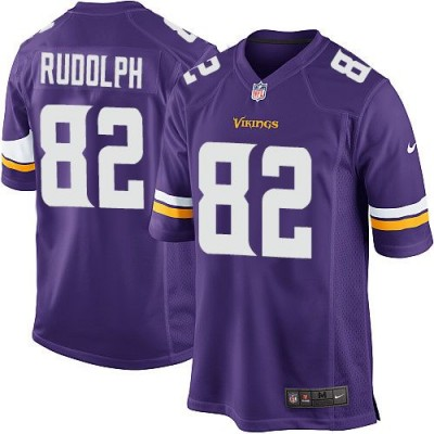 Nike Vikings 82 Kyle Rudolph Purple Team Color Youth Stitched NFL Elite Jersey
