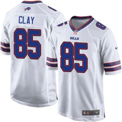 Nike Bills 85 Charles Clay White Youth Stitched NFL New Elite Jersey