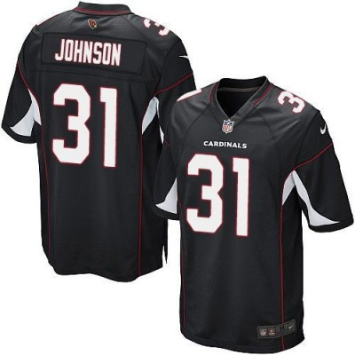 Nike Cardinals 31 David Johnson Black Alternate Youth Stitched NFL Elite Jersey