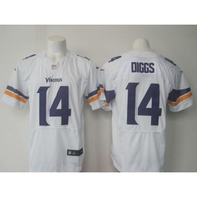 NFL Minnesota Vikings 14 Stefon Diggs White Men Nike Elite Jersey