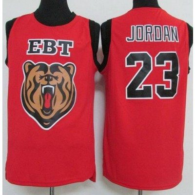 High School EBT 23 Michael Jordan Red Classic NBA Men Jersey