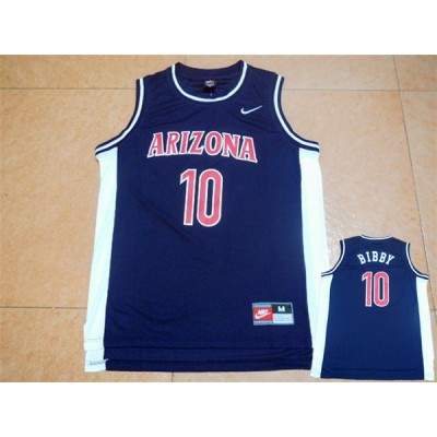 NCAA Arizona State Sun Devils 10 Mike Bibby Navy Blue Basketball Men Jersey