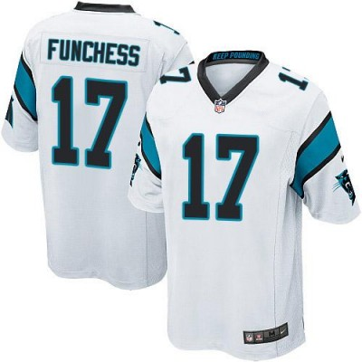 Nike Panthers 17 Devin Funchess White Youth Stitched NFL Elite Jersey