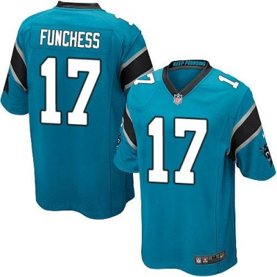 Nike Panthers 17 Devin Funchess Blue Alternate Youth Stitched NFL Elite Jersey