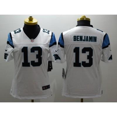 Nike Panthers 13 Kelvin Benjamin White Youth Game Jersey
